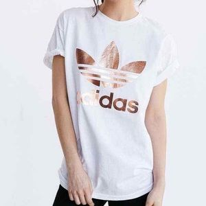 Adidas Rose Gold Trefoil T-Shirt
